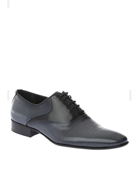 Comienzo %100 Suni Deri Klasik Ayakkabı Gri